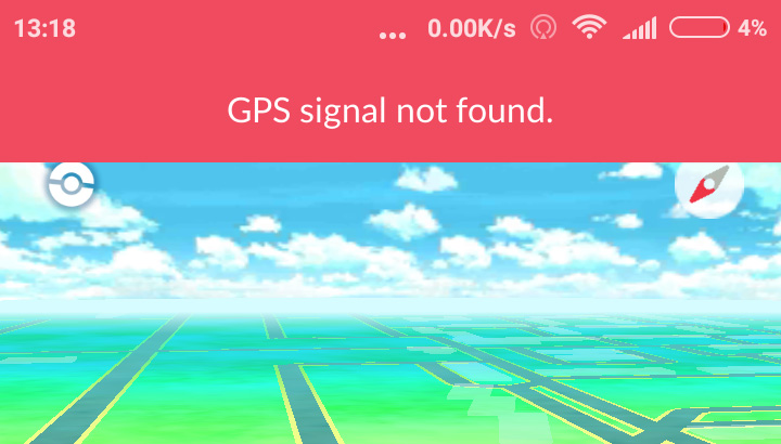 GPS signal not found